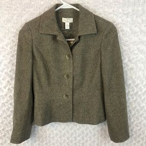 LOFT Virgin Wool Herringbone Blazer Jacket NWT